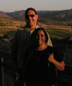 Kari Sanders (Kari Rawluk) and Mike Sanders (Michael Sanders) in San Diego, California