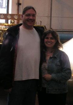 Kari Sanders (Kari Rawluk) and Mike Sanders (Michael Sanders) in Bowmore Distillery, Scotland
